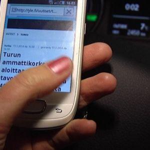 mobiltelefon, bilkörning,