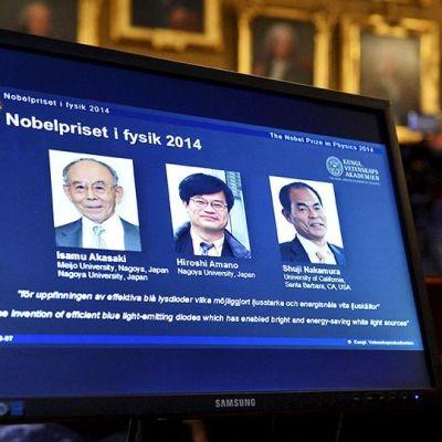 Tre japaner delar på Nobels fysikpris 2014