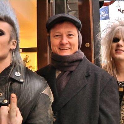 Sydstatspastor Marty Mclain med rockare i Stockholm, Sverige