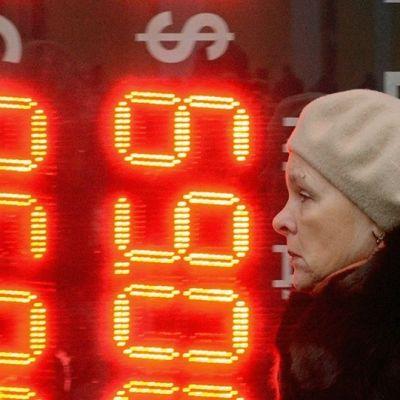 Ryska rubeln förlorar i värde