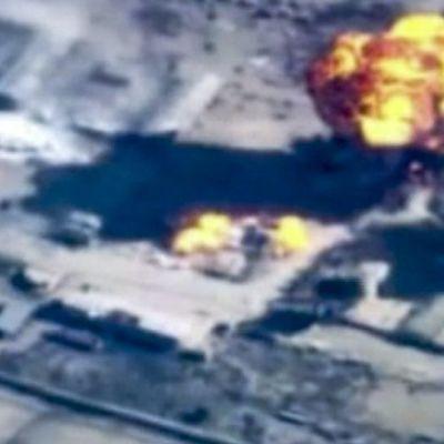 Jordanien attackerar IS-fästen i nordöstra Syrien.
