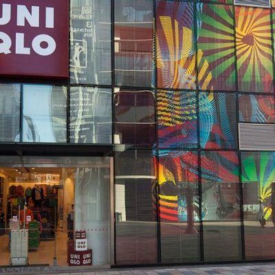 Den japanska klädkedjan Uniqlos butik i Peking.