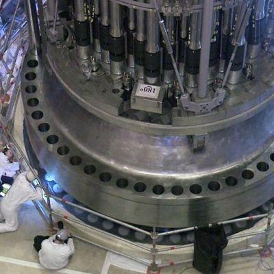 Montering av olkiluoto 3-reaktorn i juli 2014.