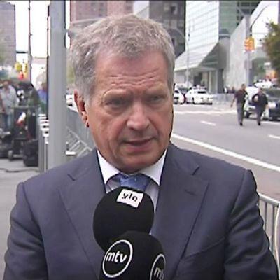 President Sauli Niinistö i New York 28.9.2015.