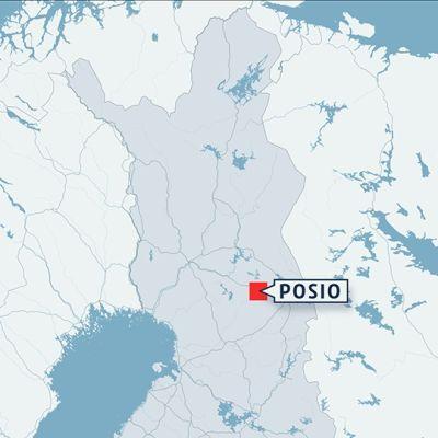 Karta på Posio i Södra Lappland.