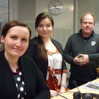 Emilia Kauppinen, Milla Virta ja Antti Laasanen vastaavat Seinäjoen kaupunginorkesterin taiteellisesta johdosta seuraavat kaksi vuotta.