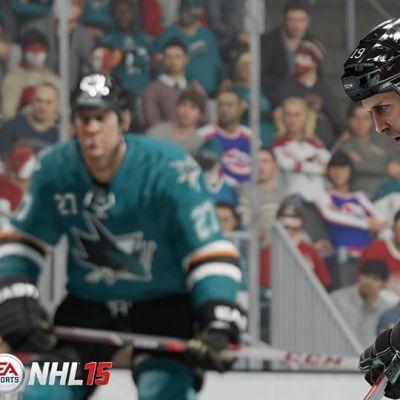 Kuvakaappaus NHL 15 -pelistä.
