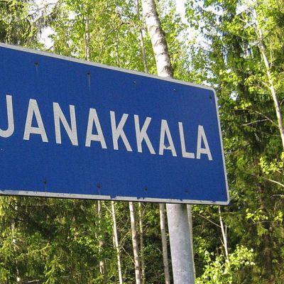 Janakkalan kunnan kyltti.