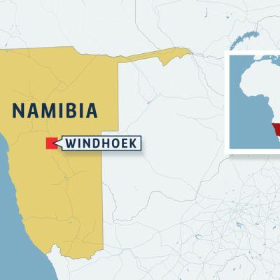 Namibian kartta