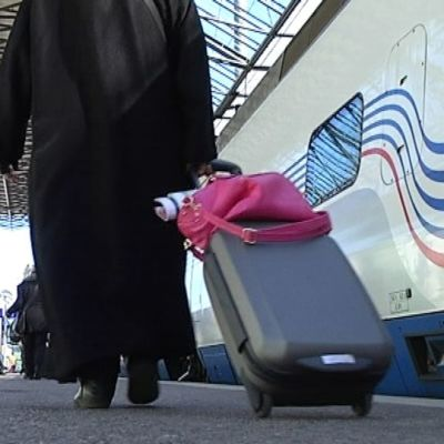 Allegro-juna laiturissa.