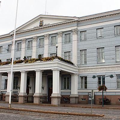 Helsingin kaupungintalo ulkoapäin.