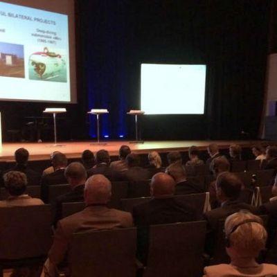 Valery Shlyamin puhumassa Saimaa Summitissa.
