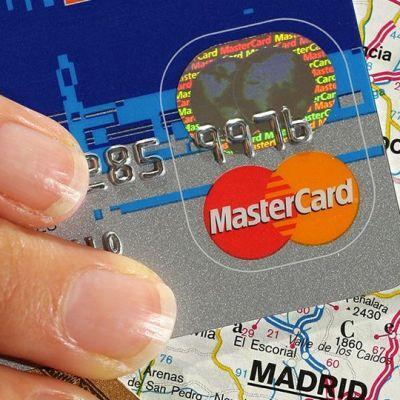 Mastercard-yhtiön luottokortti.