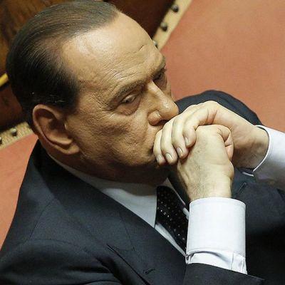 Silvio Berlusconi Italian senaatissa.