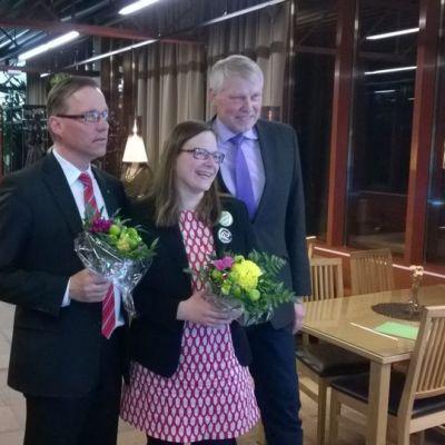 Timo Korhonen, Marisanna Jarva ja Eero Suutari