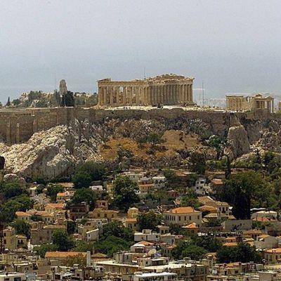 Akropolis-kukkula Ateenassa.