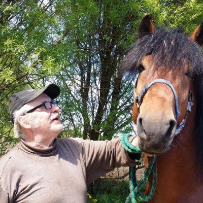 Pertti Rantala ja hevonen.