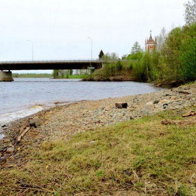 Tervolan lossinranta Kemijoen rannalla