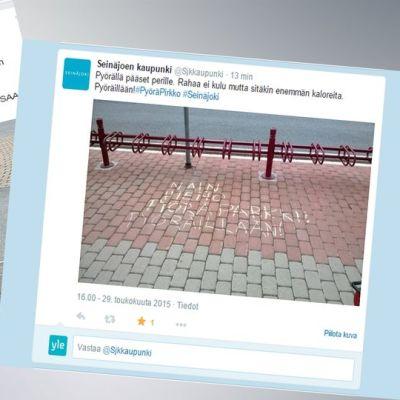 Ruutukaappauksia Seinäjoen kaupungin facebook- ja twitter-sivuilta