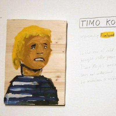 Taideteos Timo Kojosta.