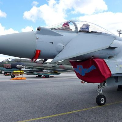 Baltian ilmatilan valvontaan osallistuva Britannian ilmavoimien Eurofighter Typhoon -hävittäjä