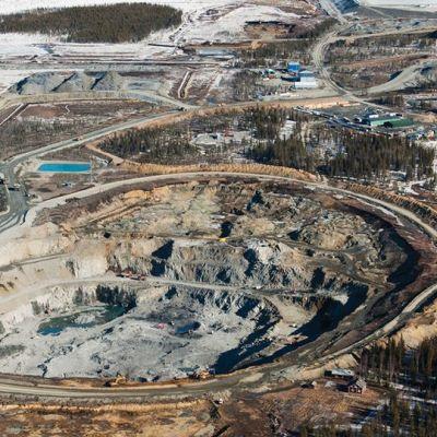 Kittilän Suurikuusikon kaivosalue huhtikuussa 2009.