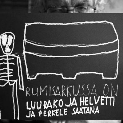 Pertti Kurikka purkaa tuntojaan alter egonsa Kalevi Helvetin kautta.