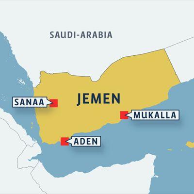 Jemen kartta.