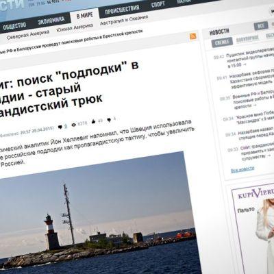 Kuvakaappaus Ria Novostin verkkosivuilta.