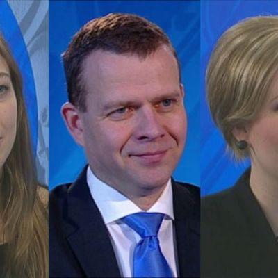 Li Andersson, Petteri Orpo, Annika Saarikko