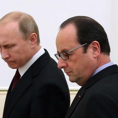 Vladimir Putin ja Francois Hollande
