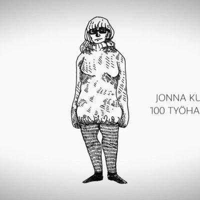 Jonna Kuitunen omakuva piirros
