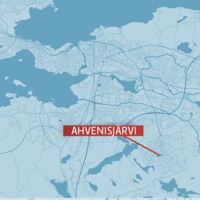 Ahvenisjärvi, Hervanta