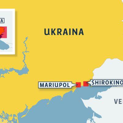 Kartta Ukrainasta.