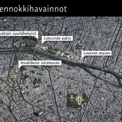 Pariisin lennokkihavainnot 24. helmikuuta 2015.