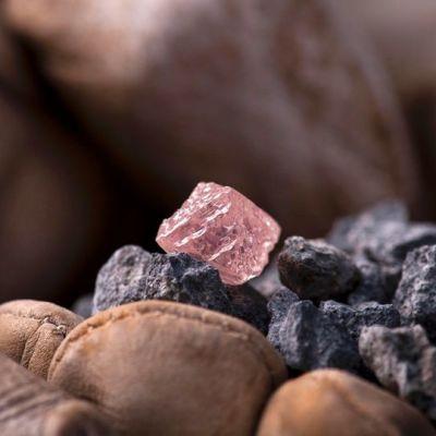 Vaaleanpunainen timantti.