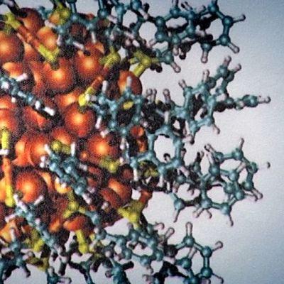 Havainnekuva nanokokoisesta molekyylistä.