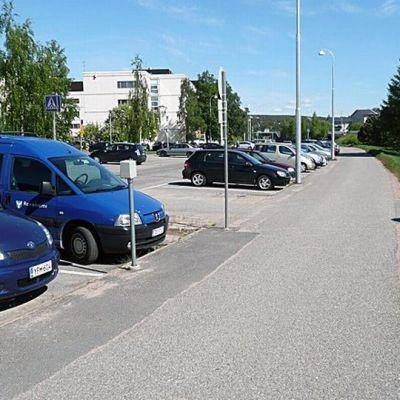 Rovaniemen kaupungin työntekijöiden työpaikka Jorma Eton tien varrella.