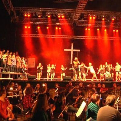 Jesus Christ Superstarin harjoitukset Club Teatrialla Oulussa.