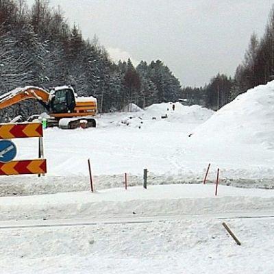 Saastetyömaa Rovaniemellä