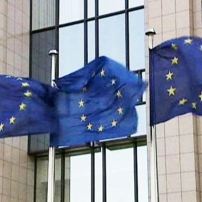 Eu-liput liehuvat lipputangossa.
