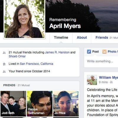 Muistosivusto Facebookissa.