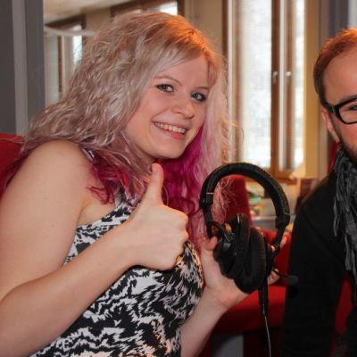 Lasse Turunen ja Henna Helasvuo Pihka ja Myrsky -yhtyeestä