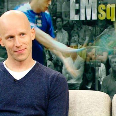 Vieraana squashin Euroopan mestari Olli Tuominen.