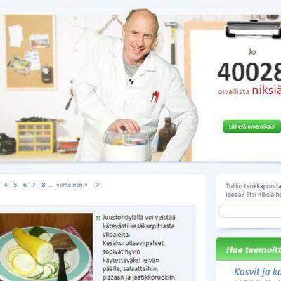 Kuvakaappaus pirkka.fi/niksit-sivustolta. Kuvassa niksologi Anssi Orrenmaa.