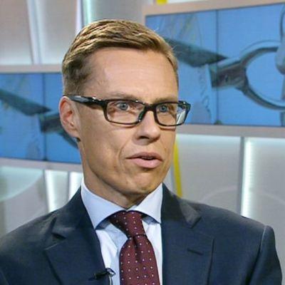 Valtiovarainministeri Alexander Stubb vieraili aamu-tv:ssä 16. syyskuuta 2015.