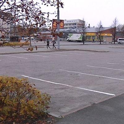 Linja-autoaseman kortteli Kokkolassa.
