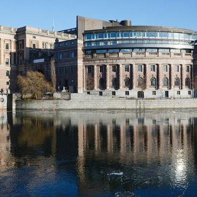 Ruotsin parlamenttirakennus.