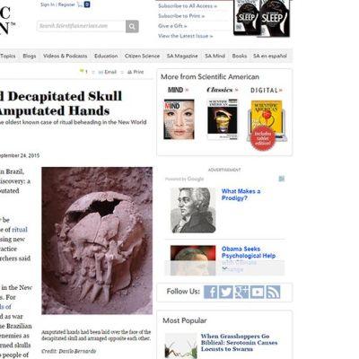 Kuvakaappaus Scientific Americanin nettisivusta.