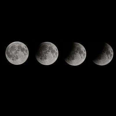 Kuuvakoosteessa kuunpimennys.